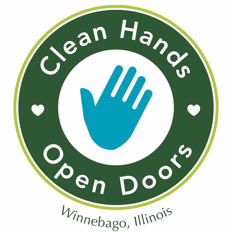 2020 clean hands open doors logo
